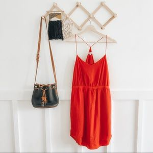 Madewell | Red Racerback Pocket Dress